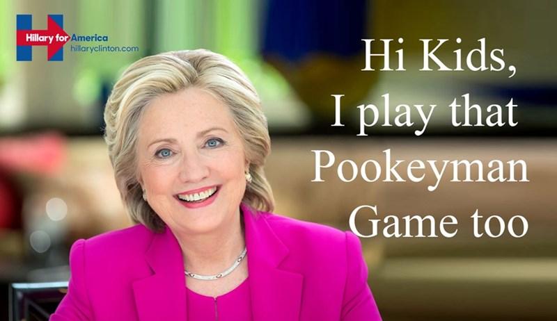 Democrat,Hillary Clinton,Pokémon