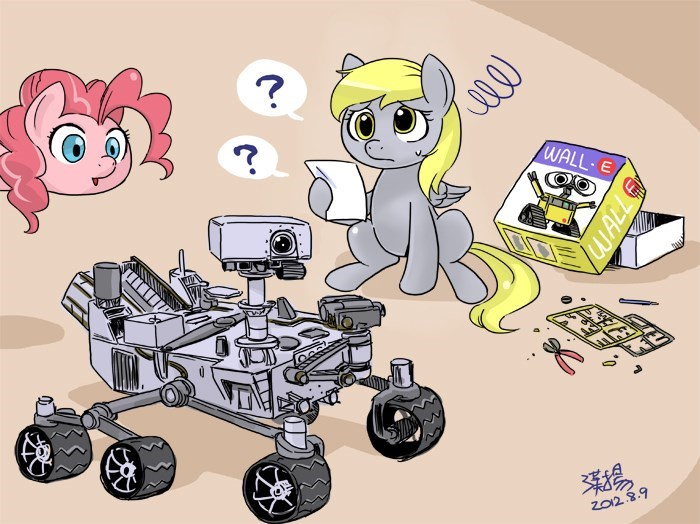 mars rover derpy hooves wall.e pinkie pie - 8820438016