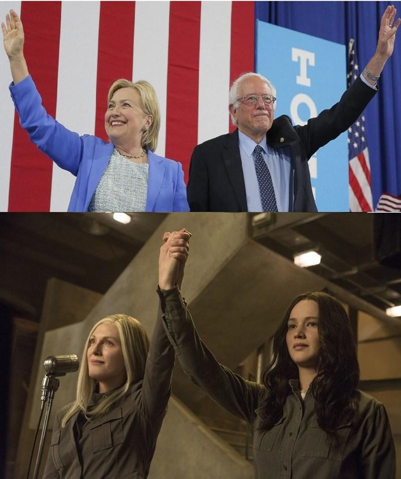 bernie sanders,Hillary Clinton,Democrat,hunger games
