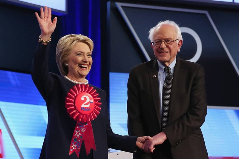bernie sanders Hillary Clinton Democrat - 8820666624