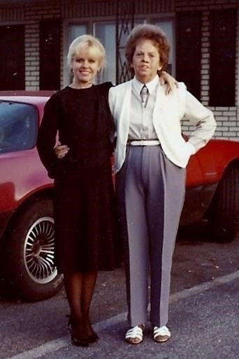 Mama and me in the 70's after her facial Melanoma where she lost half her face. Notice she had a tie on. Always stylish. No matter what