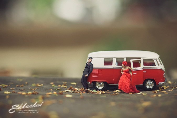 shrunken wedding photos - Motor vehicle - akachai photographer by eksachal www.facebook.com/noty.ty