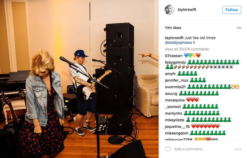Music - taylorswift Follow 1w 1.1m likes taylorswift Just like old times @teddysphotos!! view all 20,174 comments 07ceasarr fabygalindo amyfv jennifer_muz ovoirmita21 2 azuurg mxnaquino leorios1 marilynhs mikaylizzle jaqueline 15 mikeengdom ава mikevnvan7758. Add a comment... o oo