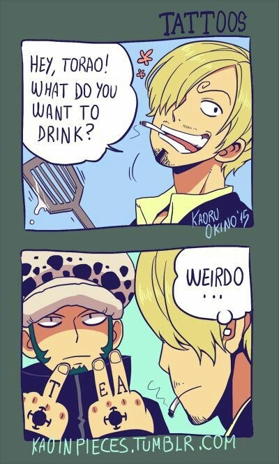 anime-one-piece-trafalgar-law-drink-order-funny