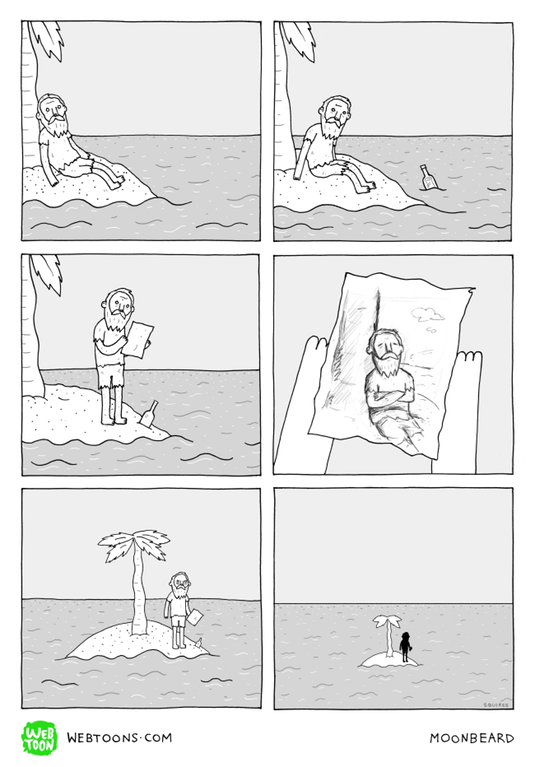 web-comics-castaway-stranded-on-lone-island-bottle-trippy