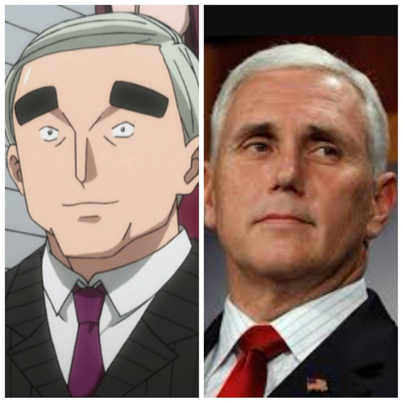 anime bizeff true mike pence funny politics - 8821305344