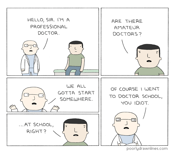 funny-commentary-on-professional-vs-amateur-doctor