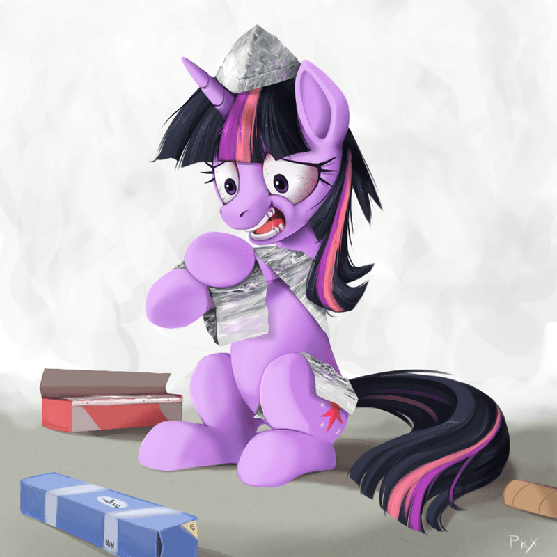 twilight sparkle tinfoil hat - 8821385984