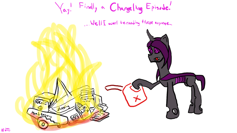 shipping,OC,headcanon,the times they are a changeling,changelings
