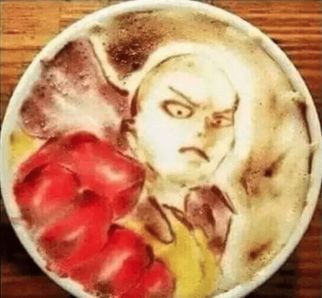 anime-one-punch-man-inspired-coffee-art