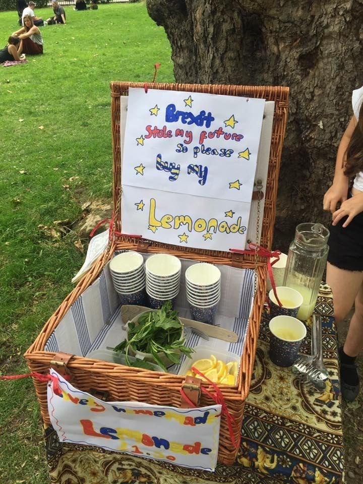 When Brexit hands you lemons...sell lemonade!