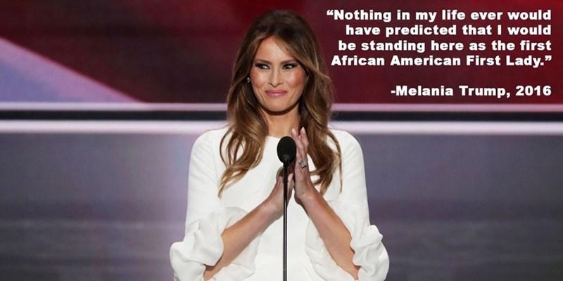 Trump meme about Melania as Michelle Obama