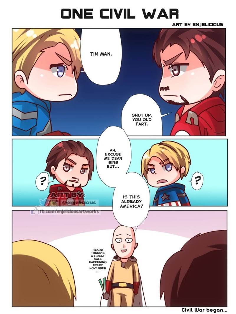 anime one punch man captain america funny web comics - 8822403072