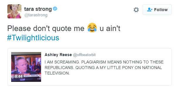 Republicans,twitter,tara strong,twilight sparkle
