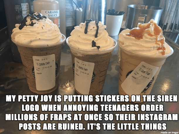 image starbucks pranks This Barista Came up With a Clever Way to Deal With the Stress of the Summer Frappuccino Rush