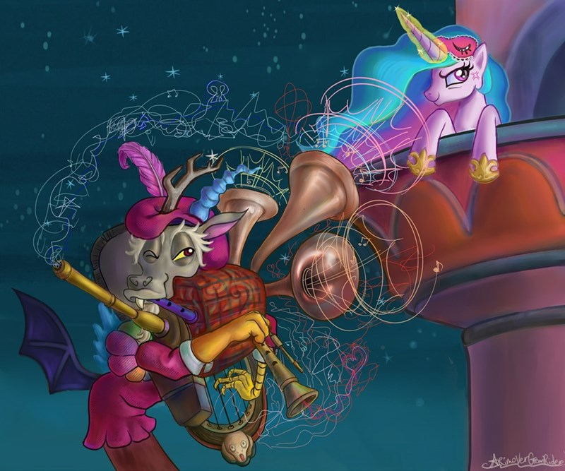 discord,princess celestia