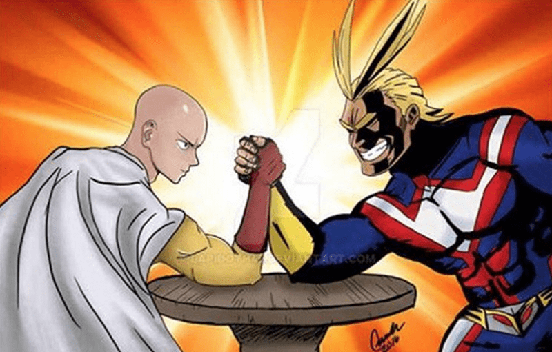 anime-one-punch-man-arm-wrestling-money-on-who