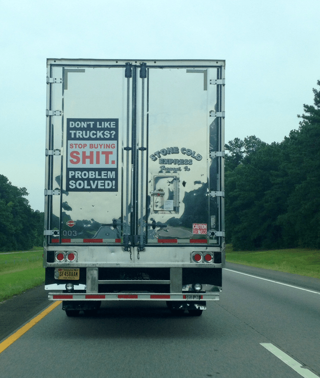 image trolling signs Truck Driver, Problem Solver