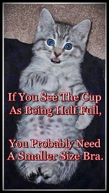 """Do You See The Cup As """"Half Full""""?"""