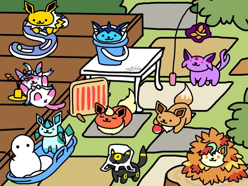 pokemon go plus neko atsume equals eevee cats