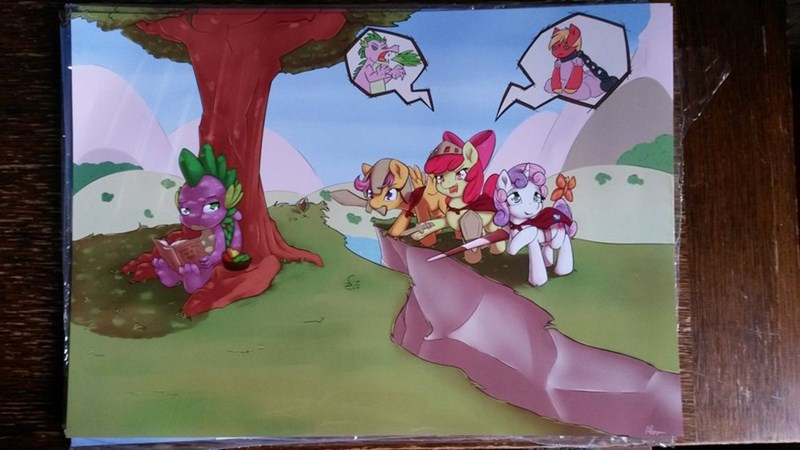 spike,Sweetie Belle,apple bloom,Big Macintosh,Scootaloo