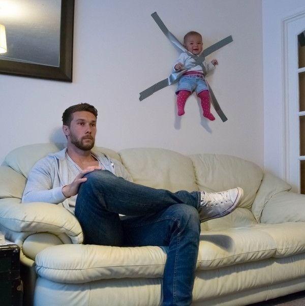 Babies parenting dad