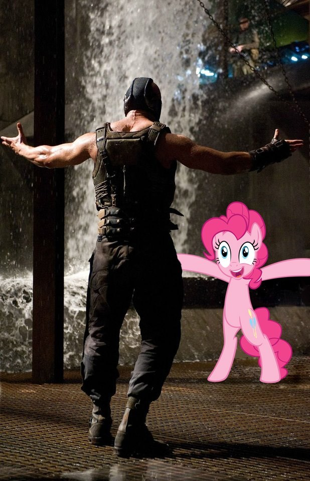 the dark knight rises bane pinkie pie batman - 8823218688