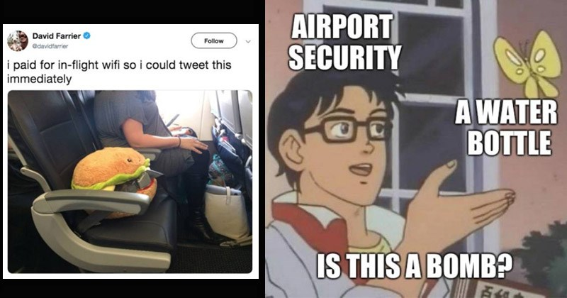 Funny memes about being in an airport