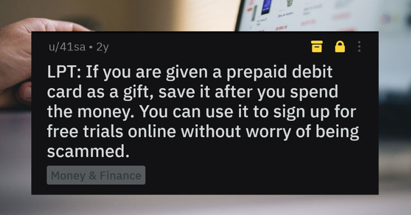 life tricks and hacks like using empty debit cards for online registration