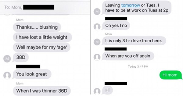 Traumatized daughter is somehow in her mom's group chat.