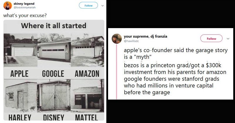 Twitter thread about billionaires and where they got their wealth from