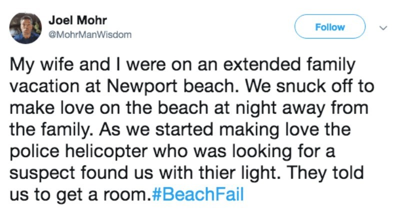 funny beach fail getting caught by police having sex on the beach