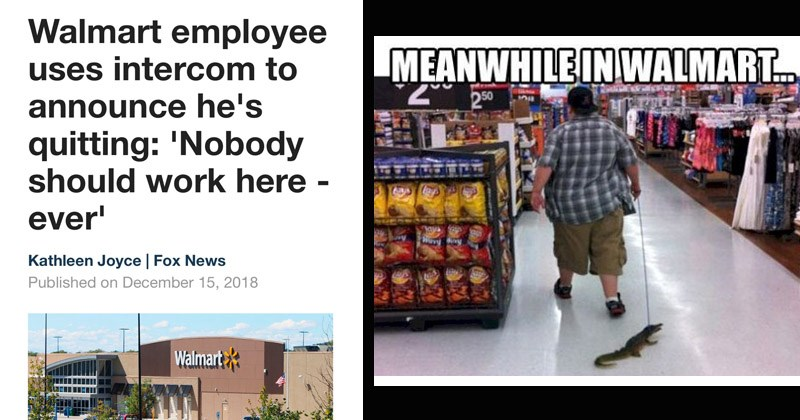 Funny memes about Walmart