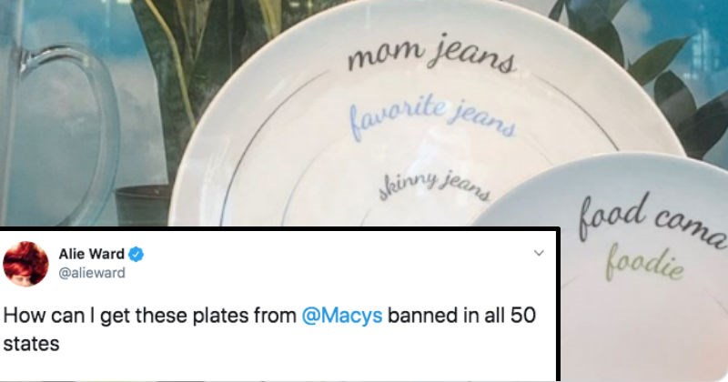 "Twitter users get angry at Macy's for their ""portion control"" plates."