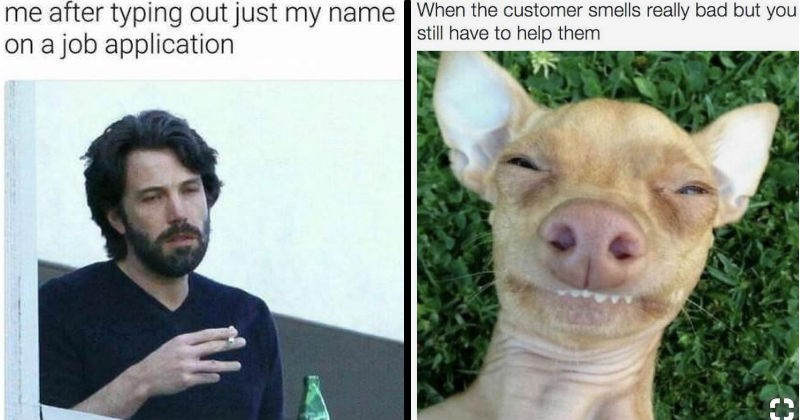 Relatable memes about working customer service.