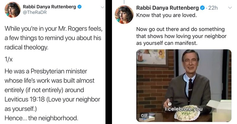 Heartwarming Twitter thread about Mr. Rogers' life