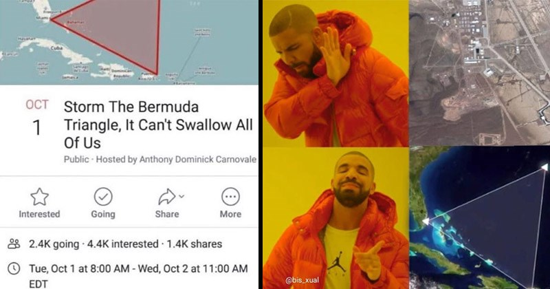 Funny memes about 'Storming the Bermuda Triangle'