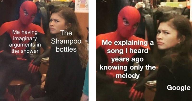 'Spider-Man explaining to Zendaya' memes