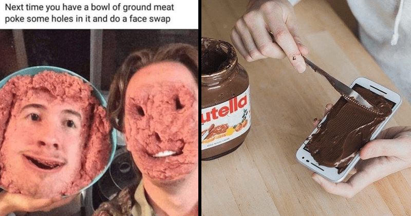 Cursed images, unsettling photos, cringey pics, animals, weird animal photos, beans, nutella.