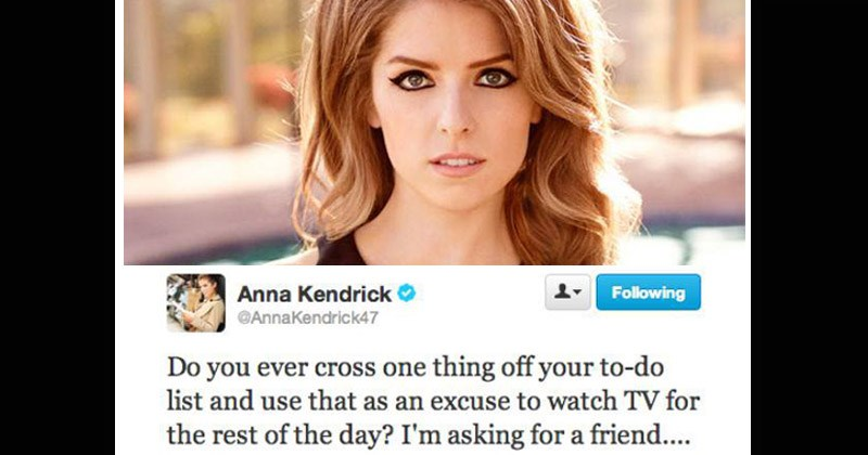 Funny tweets from Anna Kendrick
