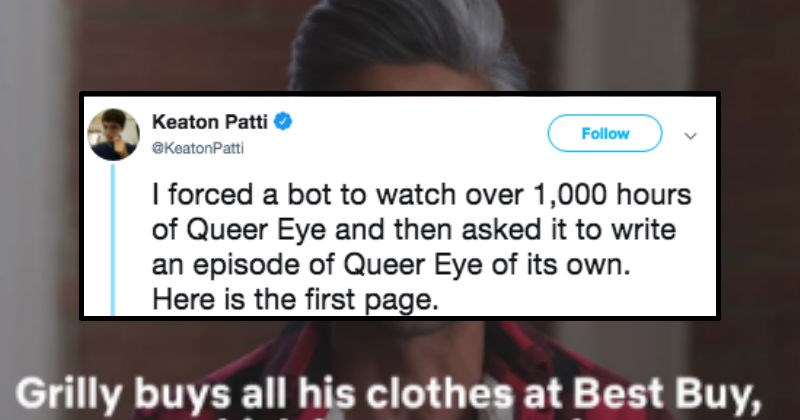 bot writes queer eye episode script