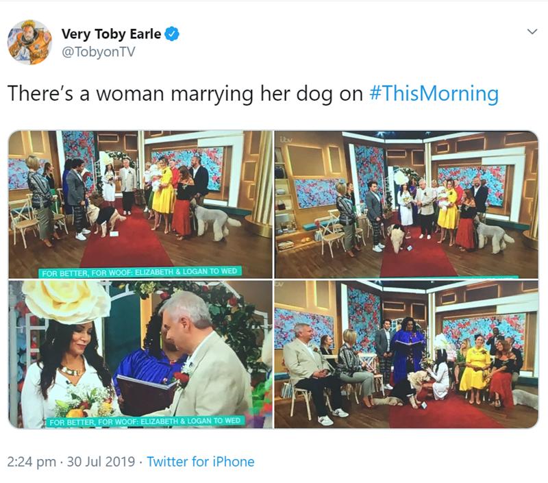 women marrying her dog