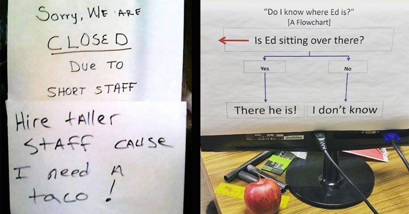Funny and passive aggressive office notes