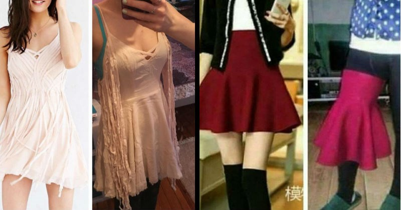 dresses buying online FAIL shopping internet lol beauty clothes misleading funny - 8939013