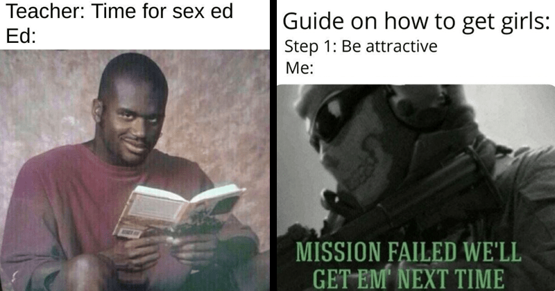 Funny memes, dating memes, sex memes, shaquille o'neal sex ed meme.