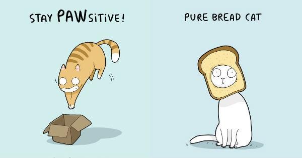 illustrations,puns,Cats