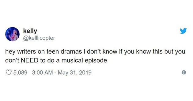 teen TV drama tweets