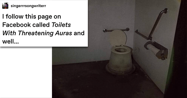 toilets threatening aura facebook