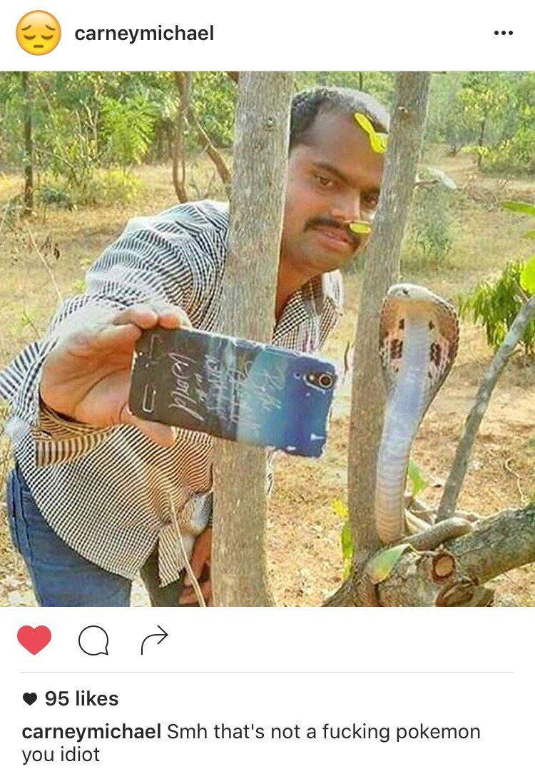 instagram india selfie snake