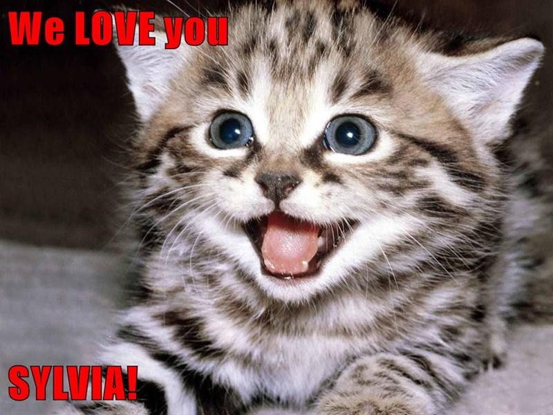 We LOVE you  SYLVIA!